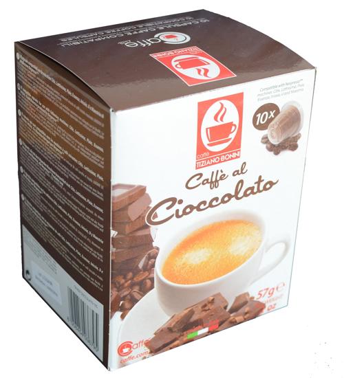 Picture of קפסולות נספרסו טיציאנו בוניני בטעם שוקולד - 10 יחידות
