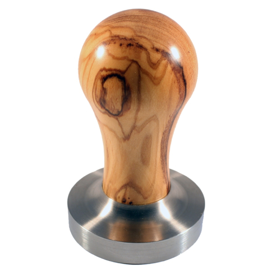 Picture of דוחסן קפה בשילוב ידית עץ זית - olive wood coffee tamper