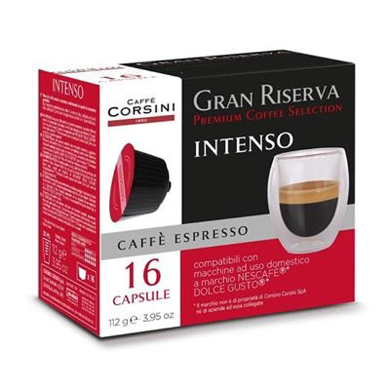 Picture of קורסיני קפסולות קפה דולצ'ה גוסטו אינטנסו - Corsini Capsule Dolce Gusto Gran Riserva INTENSO