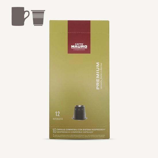 Picture of  MAURO קפסולות לנספרסו Premium אספרסו - 10 יחידות