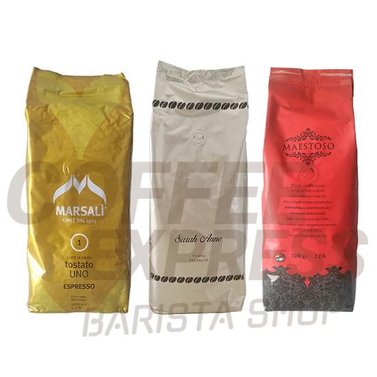 Picture of מבצע 3 סוגי פולי קפה איטלקי עשירים בקרמה