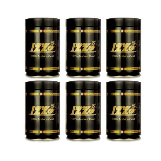 קפה איצו גולד 100% ערביקה טחון 6 פחיות של 250 גרם